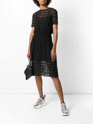 All Over Logo Layer Dress