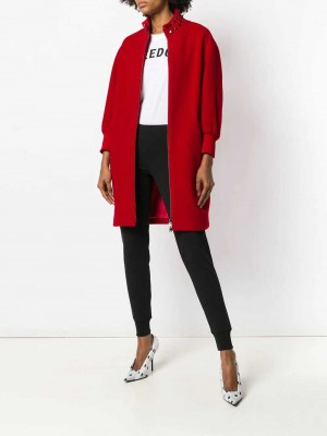 Studded Stand Collar Coat