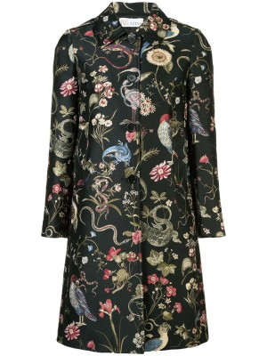 Flowers and Animals Pattern Coat