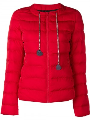 Chain Drawstring with Hearts Jacket