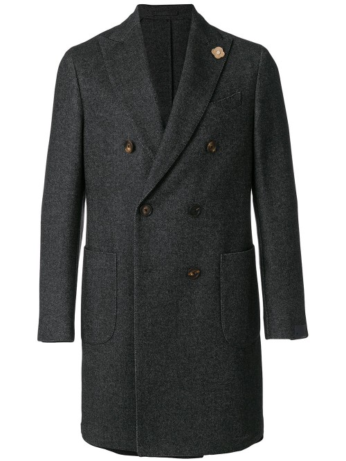 Lardini Double-Breasted Coat - Coats