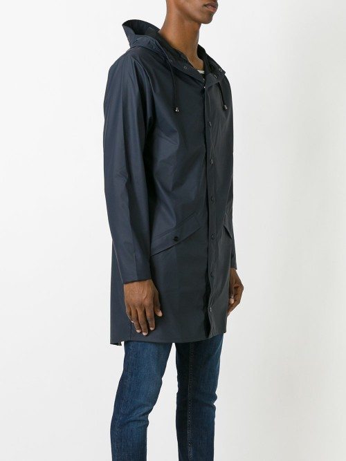 Rains Rainproof Trench Coat with Button Pocket - Casual Jackets