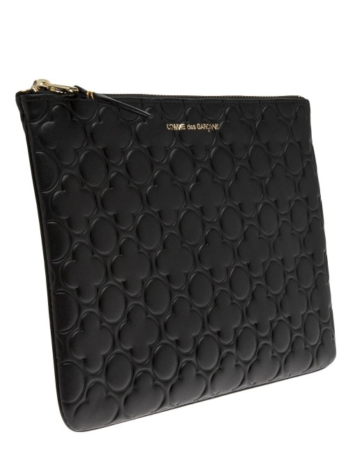 Clover Embossed Pouch in Brown Comme Des Garçons Buy Cheap Affordable Sale Deals Free Shipping Best Store To Get Where Can I Order Classic Cheap Price vOGqA