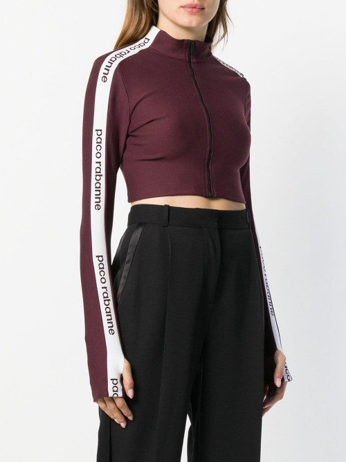Logo Band Cropped Sweatshirt