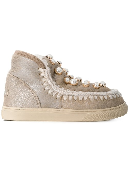 Eskimo Sneakers Pearl Studs Boots