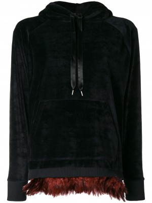 Hem with Feathers Hoodie
