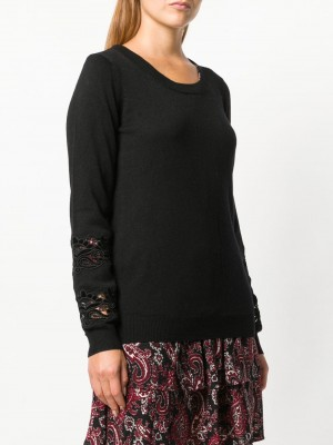 Embroidered Sleeves Jumper