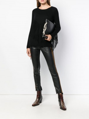 Suede Side Band Pants