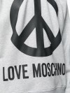 Felpa LOVE MOSCHINO Mel light gray