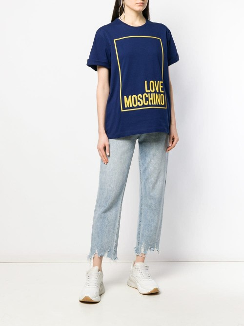 T-shirt LOVE MOSCHINO Electric blue DONNA LOVE MOSCHINO Y56 - Electric blue