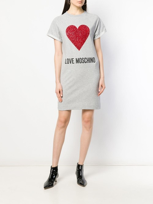 Abito LOVE MOSCHINO Grey melange