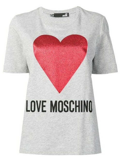 T-shirt LOVE MOSCHINO Grey melange
