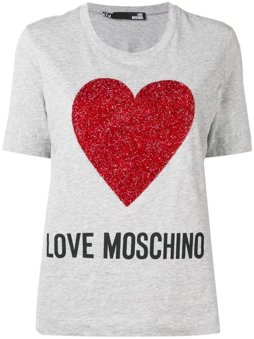 T-shirt LOVE MOSCHINO Grey melange DONNA LOVE MOSCHINO A688 - Grey melange