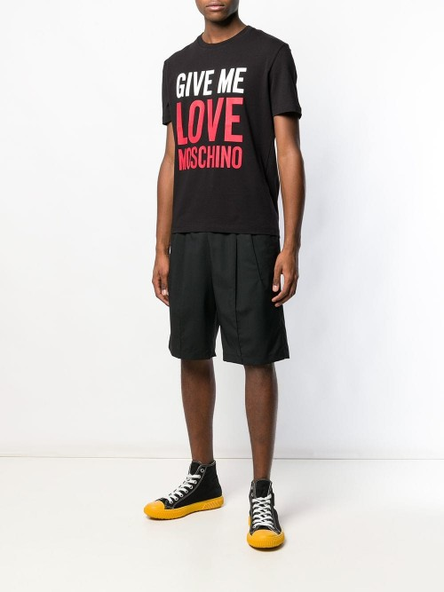 T-shirt LOVE MOSCHINO Black UOMO LOVE MOSCHINO C74 - Black