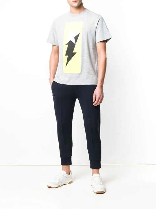 T-shirt GOLDEN GOOSE DELUXE BRAND Melgrey/golden flash