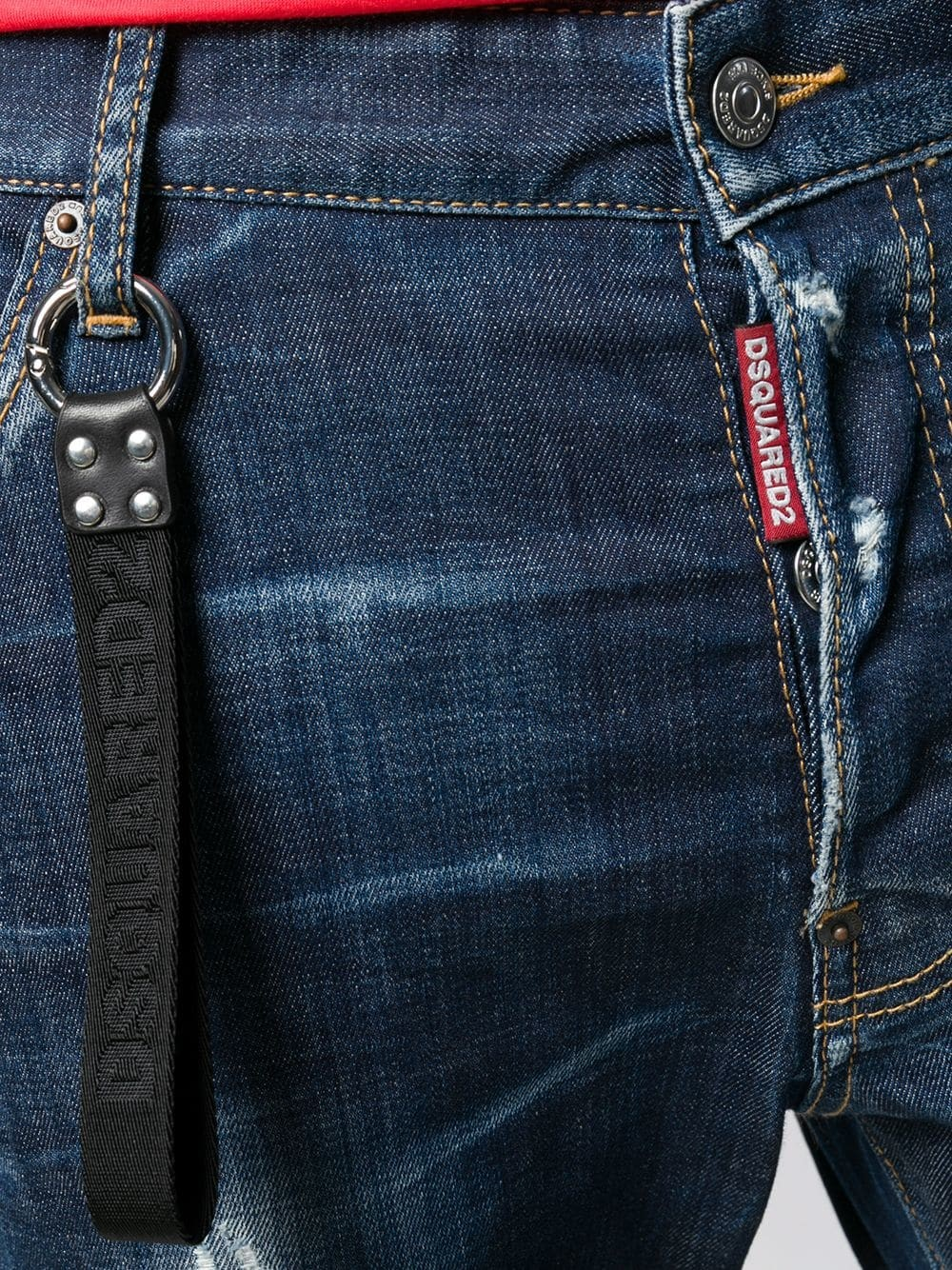 on feet shots of best sell discount Keychain Detail - Jeans - Man - Dsquared2