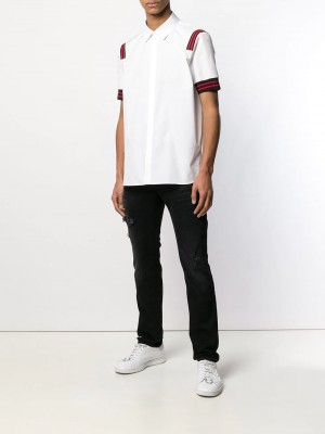 Camicia NEIL BARRETT White black red