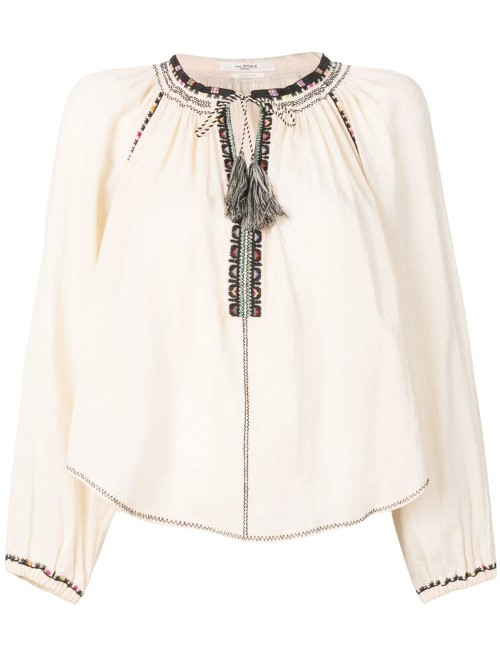 d51a2a8fdff979 Isabel Marant Etoile - Embroidery Tassel - Blouse - Woman