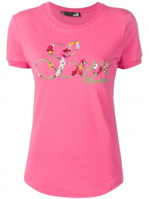 T-shirt LOVE MOSCHINO Fuxia