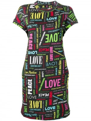 Abito LOVE MOSCHINO Nero fantasia