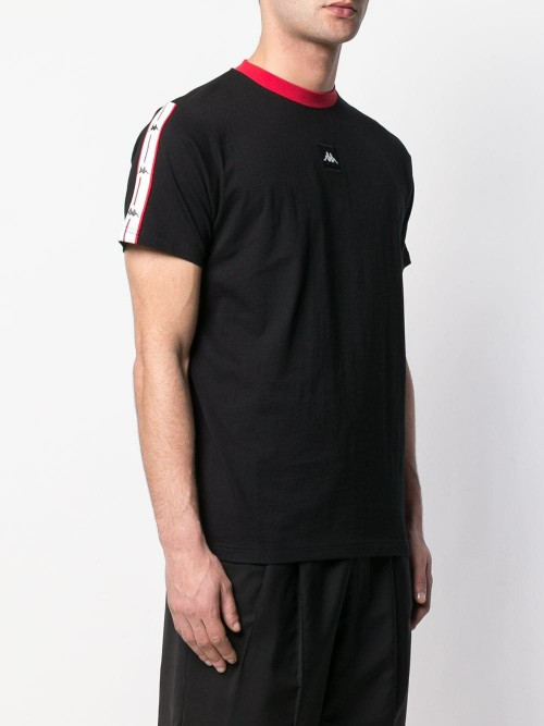 T-shirt KAPPA Black red white