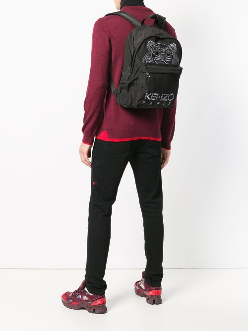 42435d1a53 Kenzo - Tiger and Logo Embroidery - Backpack - Woman