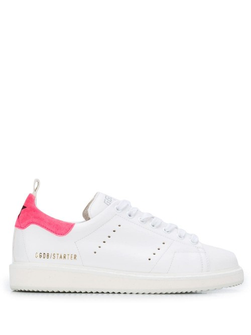 Scarpe GOLDEN GOOSE DELUXE BRAND White nappa-pink fluo suede