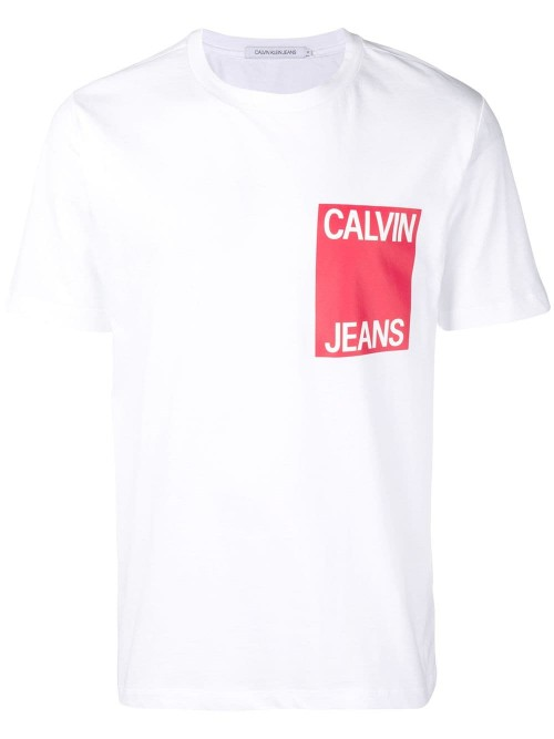 T-shirt CALVIN KLEIN JEANS White red