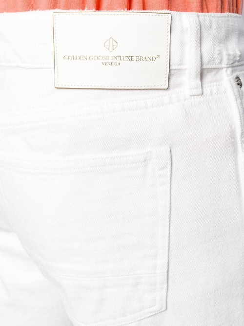Pantalone GOLDEN GOOSE DELUXE BRAND White destroyed UOMO GOLDEN GOOSE DELUXE BRAND A3 - White destroyed