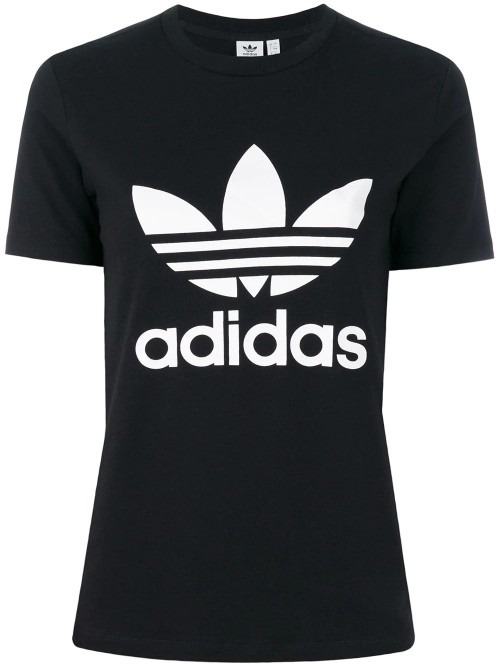 T-shirt ADIDAS Black white
