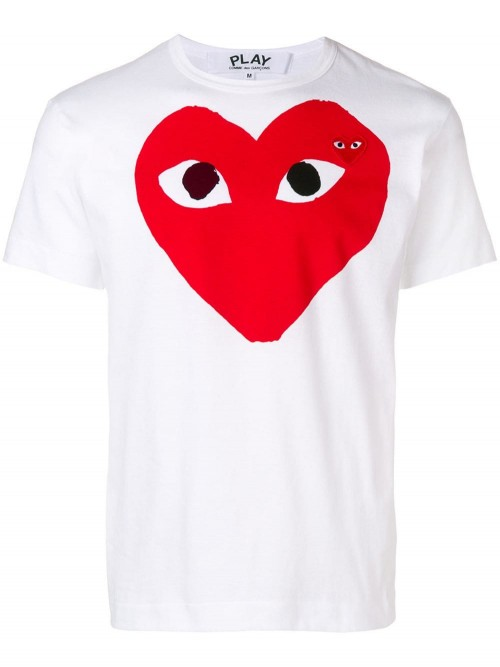 T.shirt COMME DES GARCONS PLAY Bianco UOMO COMME DES GARCONS PLAY WHITE - Bianco