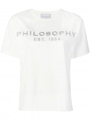 T-shirt PHILOSOPHY by LORENZO SERAFINI Bianco