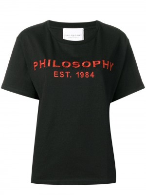 T-shirt PHILOSOPHY by LORENZO SERAFINI Nero