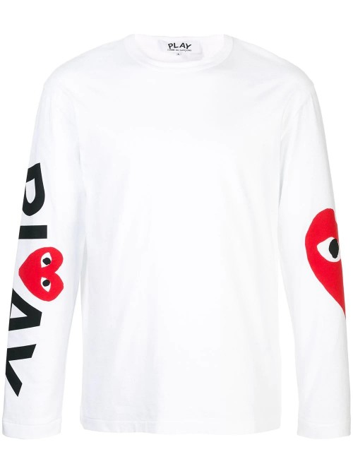 8a0d0ed9a2721 Comme Des Garçons Play - Long Sleeves - Heart T-shirt - Man