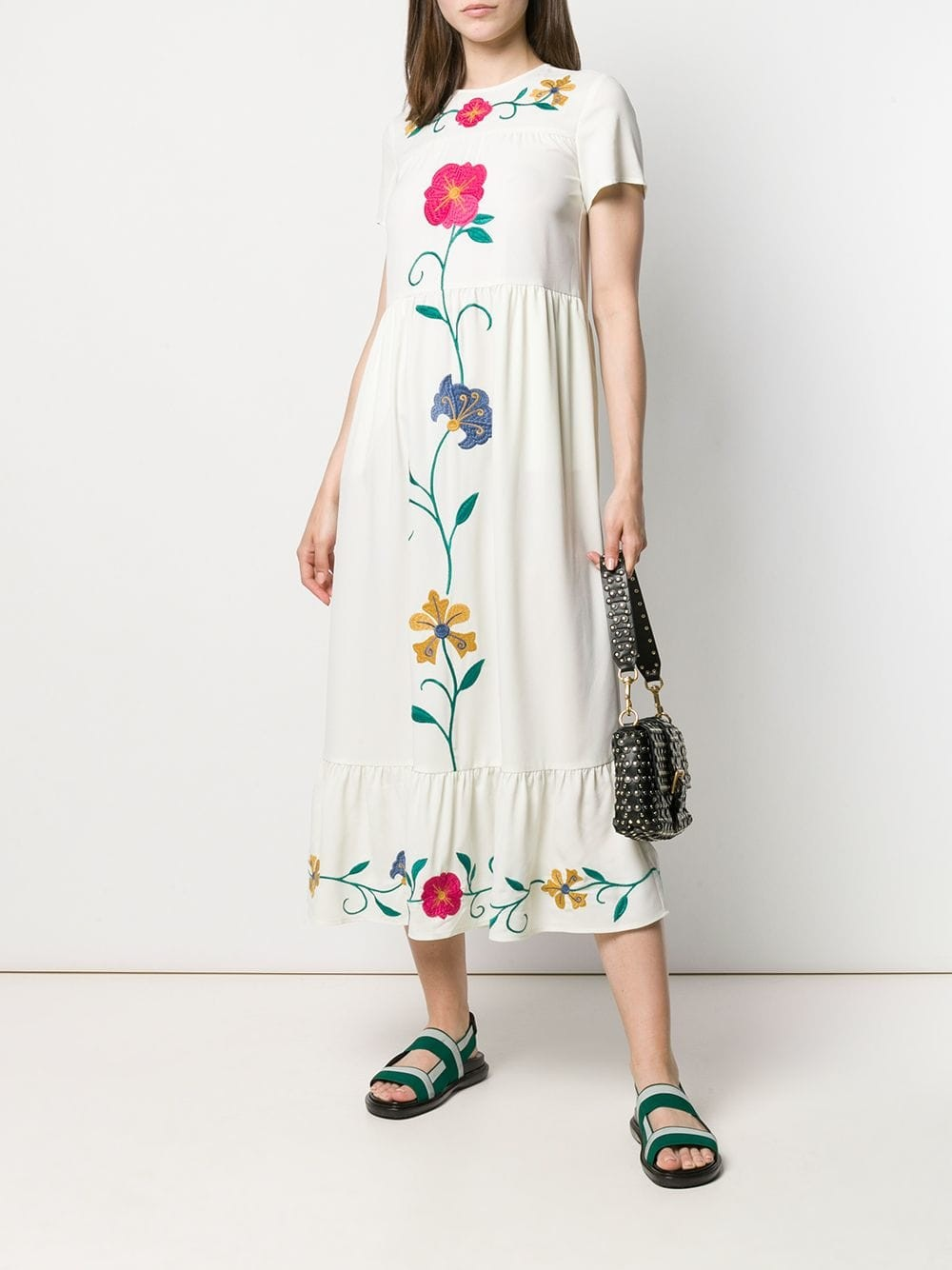 Red Valentino - Floral Embroidery - Dress - Woman