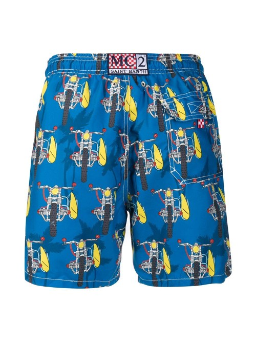 928b40c73e MC2 Saint Barth - Motorbike Print - Swim Shorts - Man