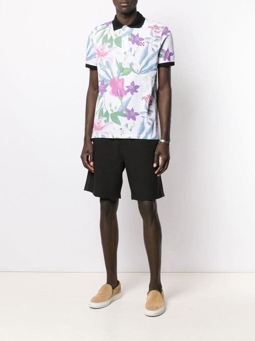 bbac5cc3 MC2 Saint Barth - Flower Print - Polo Shirt - Man