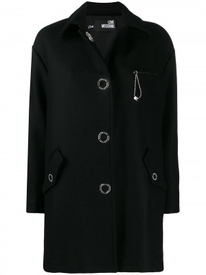 Cappotto LOVE MOSCHINO Nero