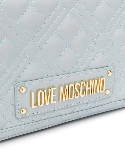 Love Moschino Logo Plaque Quilted Bag Woman