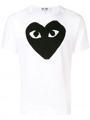 T-shirt COMME DES GARCONS PLAY White