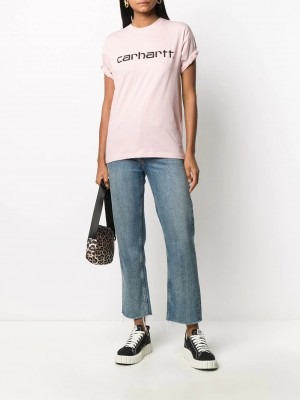 T-shirt CARHARTT Frosted pink DONNA CARHARTT 0F590 - Frosted pink
