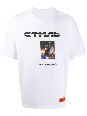 T-shirt HERON PRESTON Black white