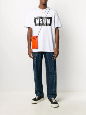T-shirt MSGM Optical white UOMO MSGM 01 - Optical white