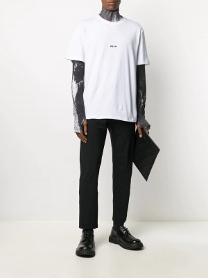 T-shirt MSGM Optic white UOMO MSGM 01 - Optic white