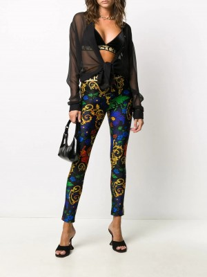 Top VERSACE JEANS COUTURE Nero DONNA VERSACE JEANS COUTURE 899 - Nero