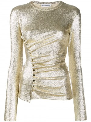 Top PACO RABANNE Silver gold DONNA PACO RABANNE M042 - Silver gold